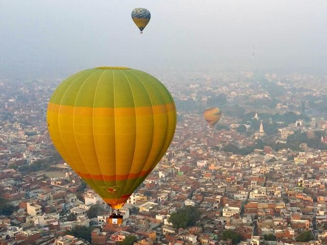 UP kicked off its Tourism Day with a hot air balloon festival at the Chowk stadium in Lucknow