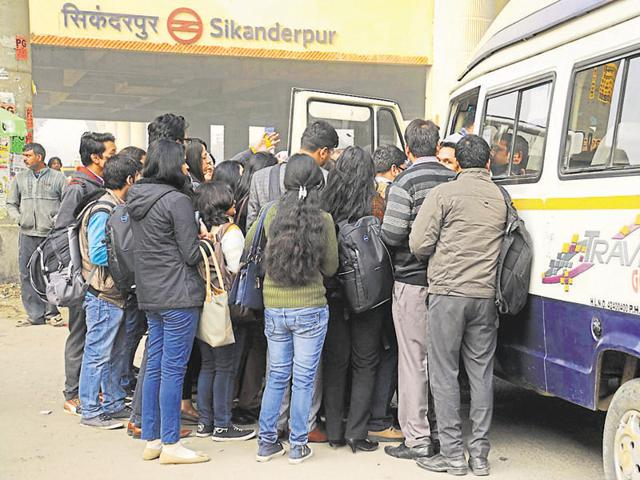 During the odd-even rule, corporate firms in the city helped employees from Delhi commute to work by arranging carpools and shuttle services.