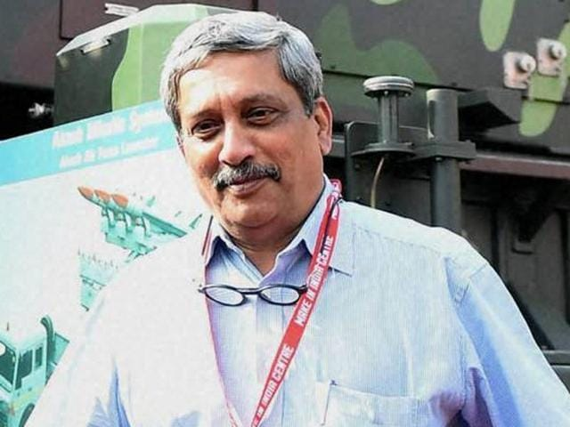 Union defence minister Manohar Parrikar during the Make In India Week in Mumbai on Monday.