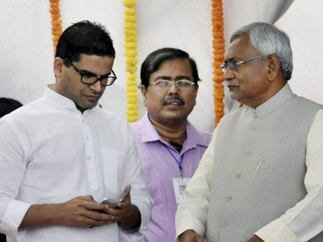 "Bihar chief minister Nitish Kumar has tasked poll strategist Prashant Kishore (right) with piloting a new ""participatory"" chief minister's office that will run parallel to the existing administrative system."