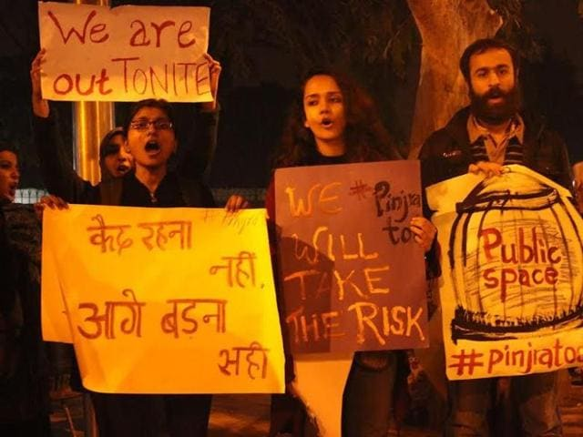 An online campaign started by student activists from different colleges and universities against sexist rules in women's hostels are exhorting women to break free.