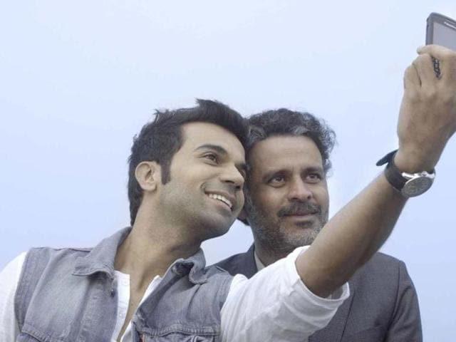 Rajkumar Rao in a still from Aligarh starring Manoj Bajpai.