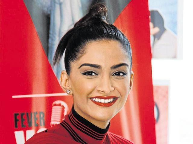 Sonam Kapoor during an exclusive interview with HTCITY, as part of Stars in the City series for the promotion of her upcoming biographical film Neerja .