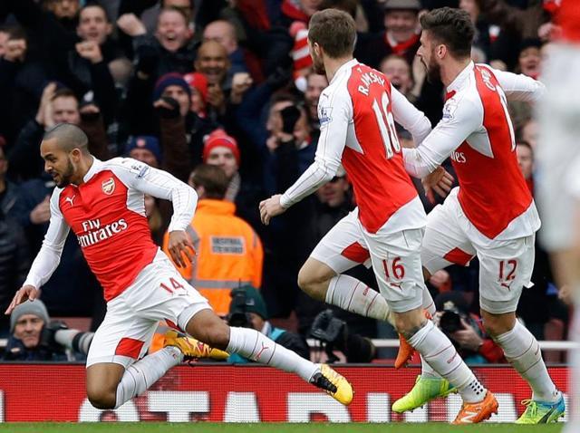 Arsenal vs Leicester,Danny Welback,Theo Walcott
