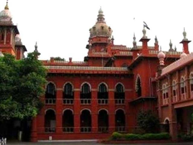 Justice Karnan was transferred from Madras high court (pictured above) to Calcutta high court by the Supreme Court.