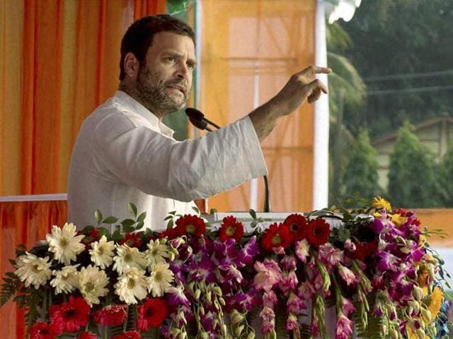 Congress vice president Rahul Gandhi was on a two-day visit in Assam. The state, which is due for assembly polls in two months, has seen a surge in BJP support ; the party had won in all the five Parliamentary constituencies in upper and northern Assam during the last Lok Sabha polls.