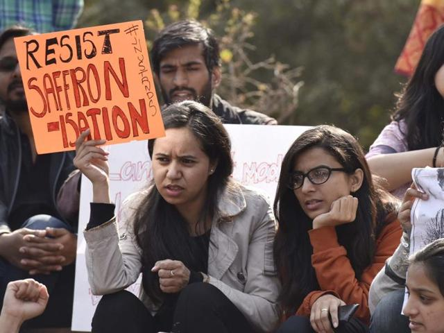 Students and some teachers of Jawaharlal Nehru University boycotted classes with students going on an indefinite strike starting Monday and calling for a solidarity march on Thursday demanding release of students' union president Kanhaiya Kumar