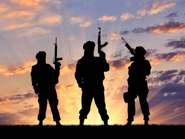 Armed militants attend ultra's funeral in Pulwama