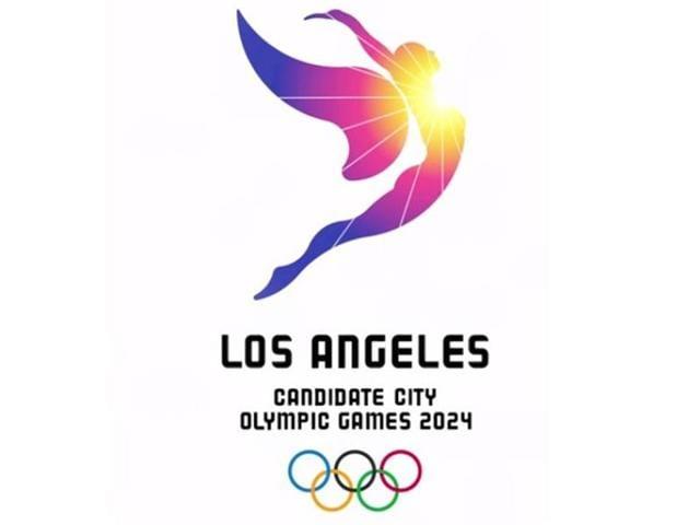 Los Angeles' logo for the city's bid to host the 2024 Olympics.
