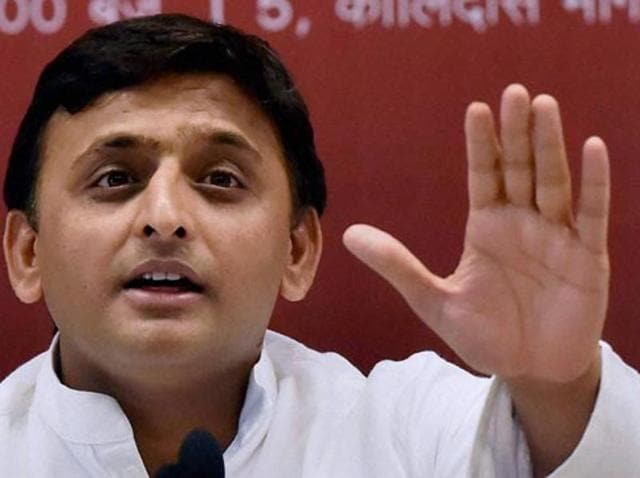 Uttar Pradesh chief minister Akhilesh Yadav speaks in the Vidhan Sabha in Lucknow. The Samajwadi Party lost two of the three constituencies in the UP bypolls.