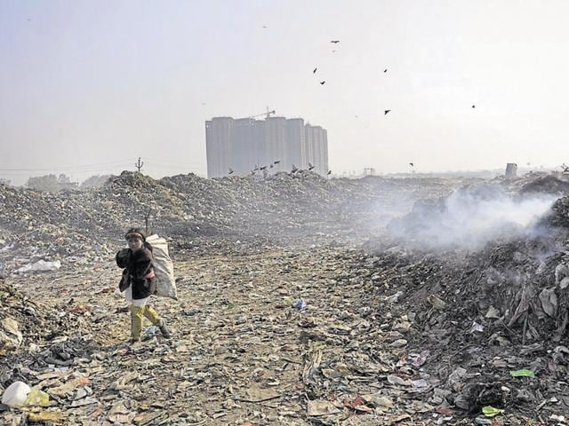 The city lacks a proper solid waste management plant and garbage is dumped at an undesignated site.
