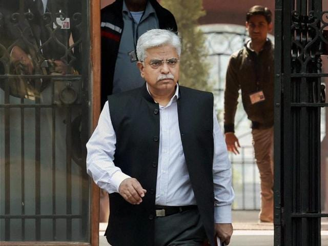 Delhi Police Commissioner BS Bassi coming out of Prime Minister Office at South Block in New Delhi on Wednesday.