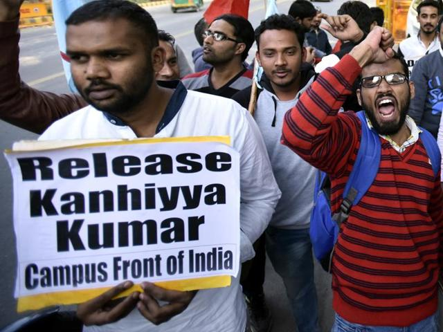 """""""I appeal to you all to not let this incident disrupt the peace of the country, the society and the universities,"""" said Kumar, who is president of the university student union."""