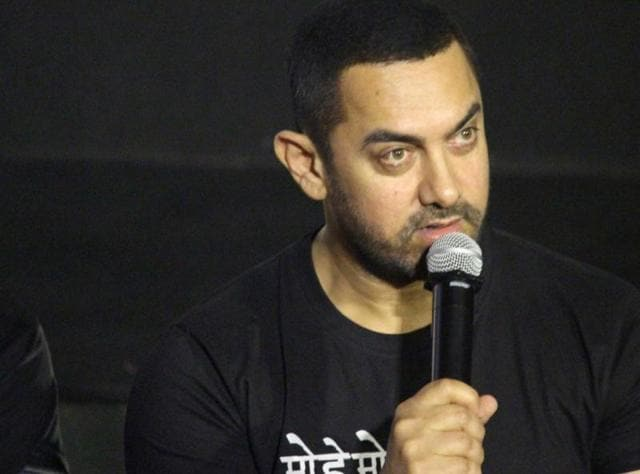 Actor Aamir Khan speaks during a press conference to commemorate 10 years of his film Rang De Basanti in Mumbai on January 25, 2016(IANS)