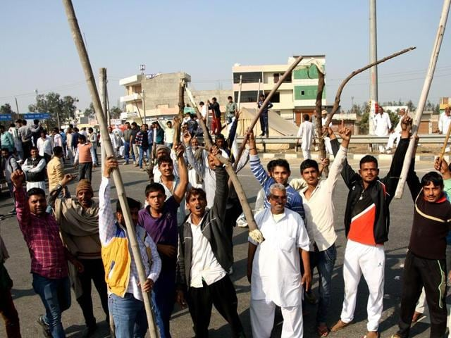 Rohtak,Jat quota row,protest in Rohtak