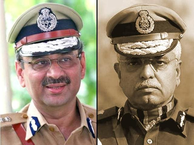 Alok Verma (L), a 1979 batch IPS officer of the Union Territories cadre will be next commissioner of police in Delhi. BS Bassi (R), the present commissioner is hanging in his boots on February 29.