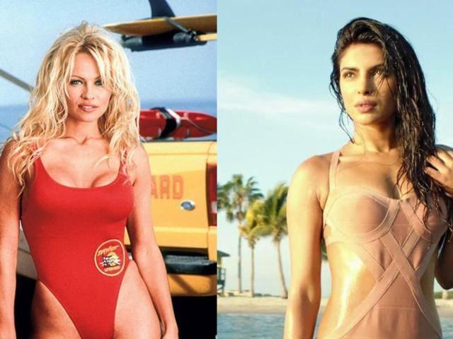 Priyanka Chopra,Pamela Anderson,Baywatch babe