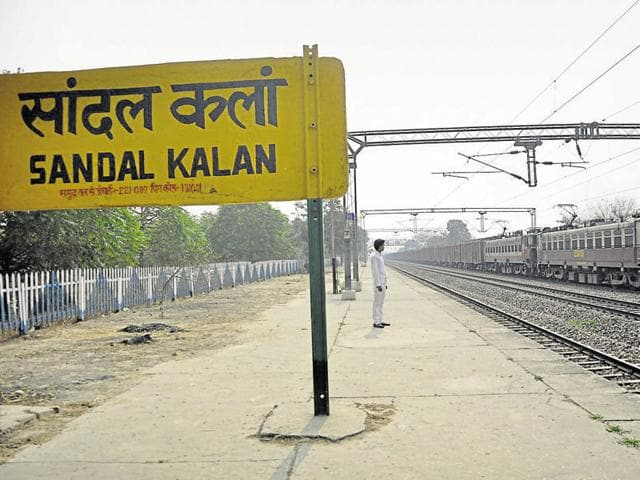 The railway station near Devendra's village from where he is believed to have let off kidnapped Snapdeal executive Dipti Sarna.