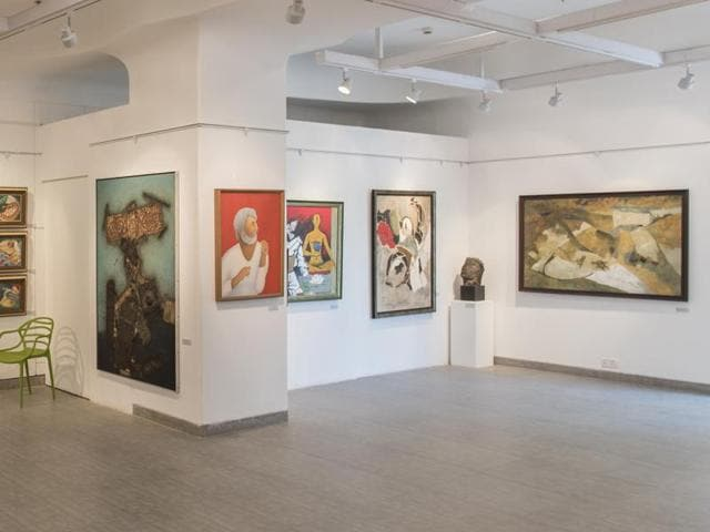 Mother Teresa, MF Husain, oil on canvas displayed at The Bombay Art  Society's latest art complex in Bandra.