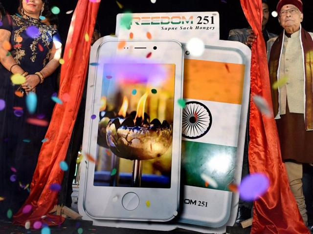The phone – that buyers can purchase for Rs. 251 from the company's website from Thursday -- will be launched at a high-profile function attended by defence minister Manohar Parrikar, senior MP Murli Manohar Joshi and Madhya Pradesh legislator Omprakash Sakhlecha in Delhi at 7pm