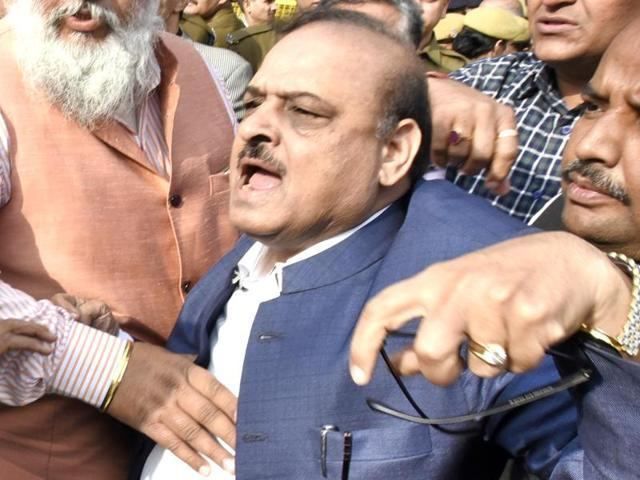 The police had on Wednesday issued summons to BJP MLAOP Sharma and three lawyers in connection with the assault on journalists, students and teachers of the JNU at the Patiala House Courts Complex.