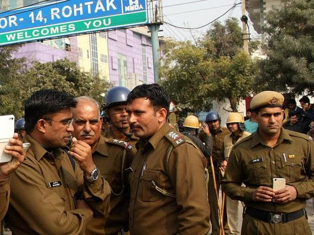 High police has been deployed in the region for the past few days to avoid any untoward incident in Rohtak.