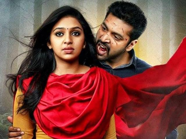 Probably the first zombie film in Tamil cinema, Miruthan is a tired story with gory faces, glazed eyes and blood, not to mention a storyline that annoys.