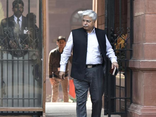 Delhi Police Commissioner BS Bassi coming out after meeting from Prime Minister's office South Block in New Delhi on Wednesday, February 17, 2016.