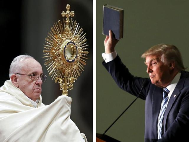 Pope Francis assailed Republican presidential candidate Donald Trump's views on Us immigration as