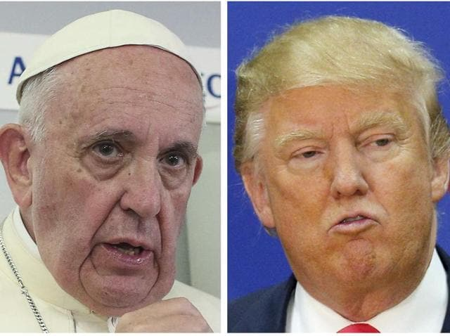 Republican candidate Donald Trump has survived indiscretions that have brought down other candidates, and it seems he will walk away from his fracas with the Pope as well.(AFP Photo)