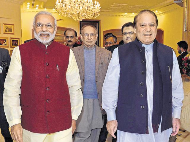 After Narendra Modi's surprise visit to Pakistan on the occasion of Nawaz Sharif's birthday in December 2015, ties between India and Pakistan went into a tailspin after the Pathankot attack.(Agencies)