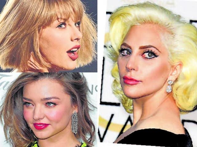 Taylor Swift,Lady Gaga,Short haircut