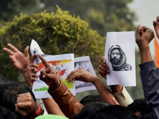 Three youths have been identified as the main conspirators behind the February 9, Afzal Guru event, and Delhi Police have sent a look-out notice for them.