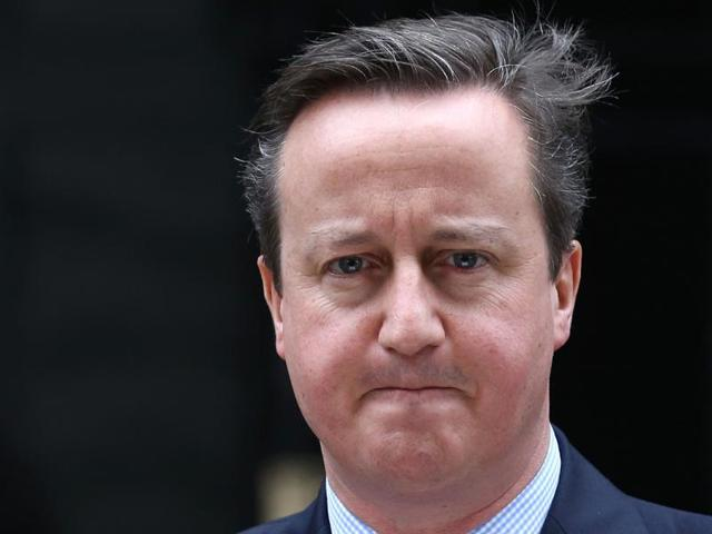 Britain's Prime Minister David Cameron speaks outside 10 Downing Street in London, Britain.