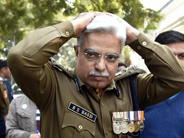 Delhi Police commissioner BS Bassi at the Prime Minister's Office at South Block.