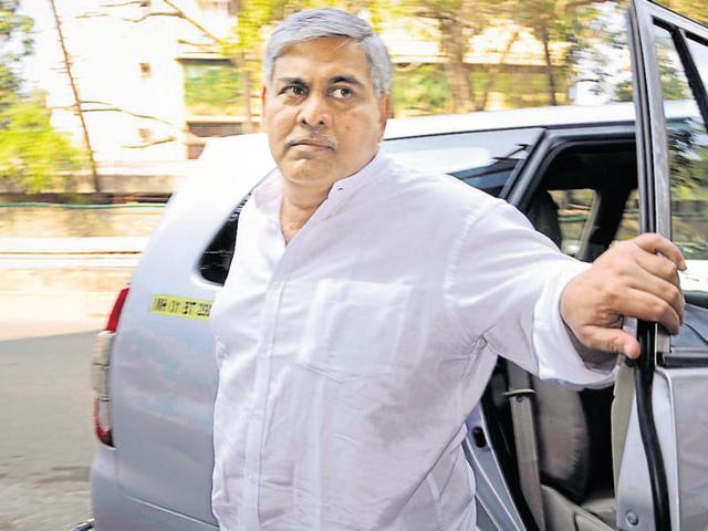 BCCI president Shashank Manohar arrives for the Special General Meeting in Mumbai on February 19, 2016.