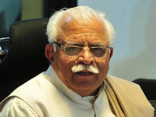 A file photo of Haryana CM Manohar Lal Khattar