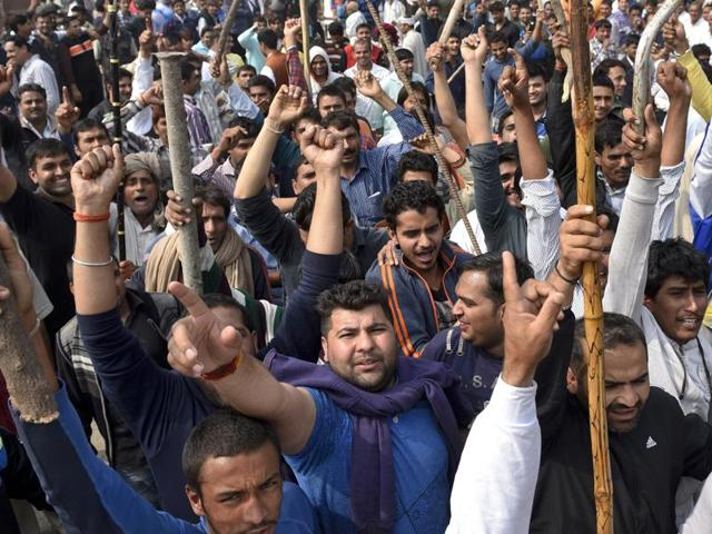 A mob of around 10,000 people carrying weapons from the surrounding villages of Rohtak were also seen vandalising private property. Police and army have not been able to reach the area as yet.
