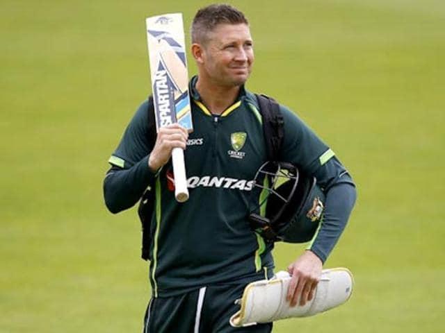 "After scoring 48 runs on his return to club cricket, former Australia captain Michael Clarke said he felt ""quite rusty""."