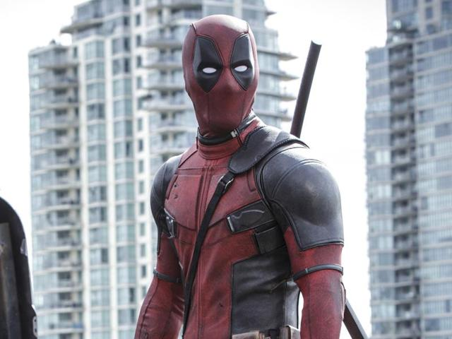Ryan Reyonlds in a scene from the film, Deadpool.