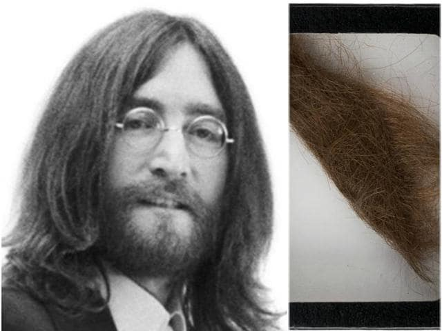 John Lennon and his lock of very expensive hair.