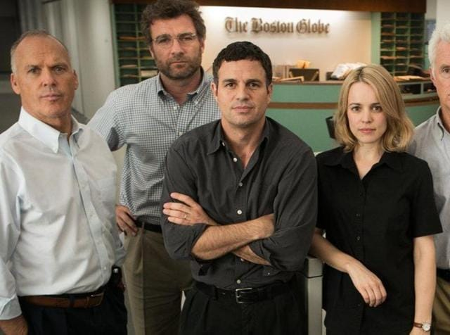 Spotlight's cast of Michael Keaton, Liev Schreiber, Mark Ruffalo and Rachel McAdams bring home an important point -- this is the kind of powerful journalism we all need.