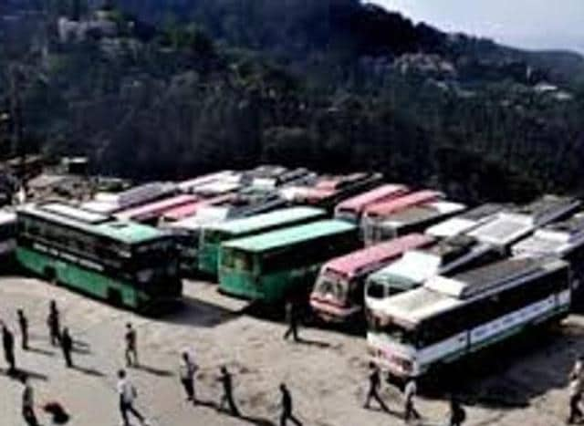 An official said some buses were routed via Baddi to Chandigarh.