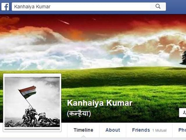 Screengrab of Kanhaiya Kumar's Facebook profile.