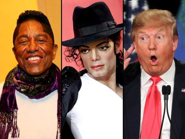 Jermaine Jackson (L) took to Twitter to express his annoyance for Donald Trump over his remarks on Michael Jackson.