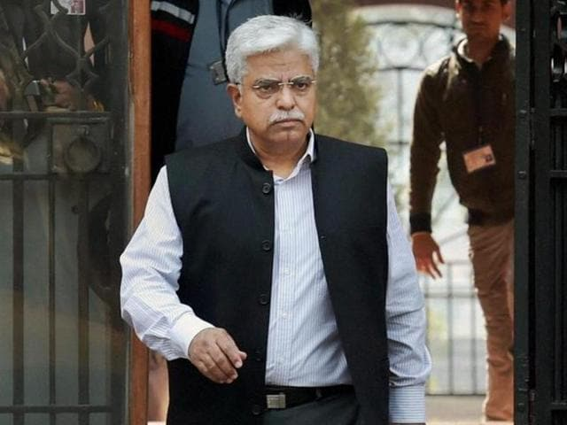 Delhi Police Commissioner BS Bassi coming out of Prime Minister Office at South Block in New Delhi on Wednesday. Bassi is due to retire on February 29.