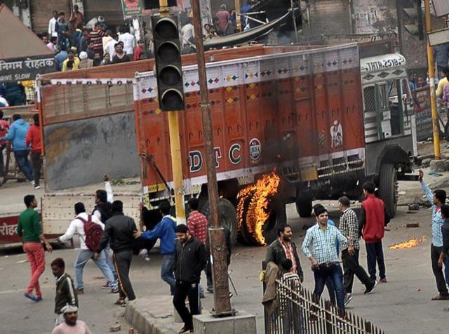 Jat quota protests