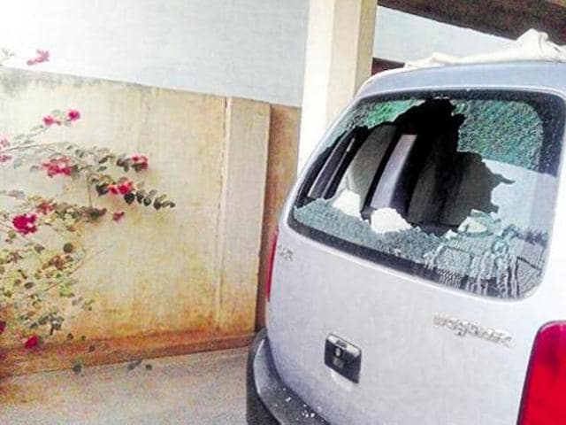 The house of a reporter Malini Subramaniam who writes for Scroll.in, a digital news portal, was targeted by a group of men in Jagdalpur. (HT Photo)