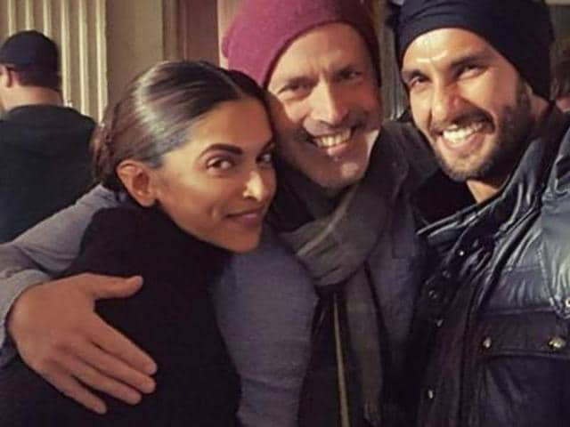 xXx director, DJ Caruso, posted a picture with Deepika Padukone and Ranveer Singh. (Twitter)