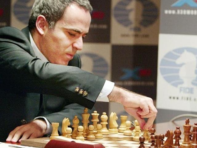 A file photo of Russian grandmaster and former world champion Garry Kasparov.